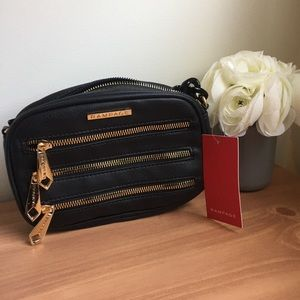Handbags - NWT Rampage Black & Gold Crossbody Bag